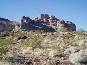 Belltower Arch in Lake Mead NRA, Arizona side