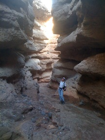 Howard in Owl Canyon Narrows