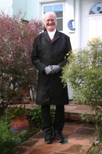 Dan Allison in Victorian clothing