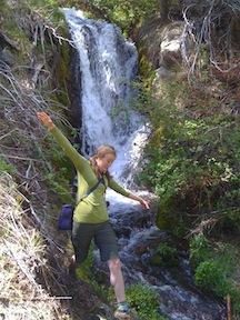Danita at upper waterfall