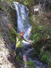 Danita at upper waterfall