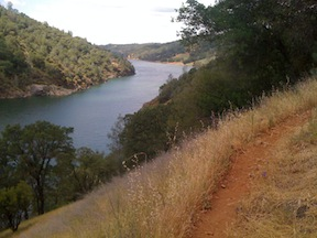 Pioneer Express Trail above Folsom Reservoir