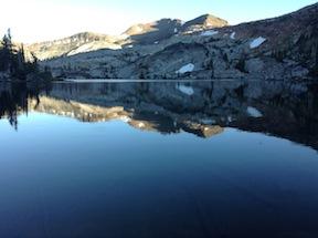 Fontanillis Lake, evening reflection