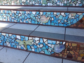 mosaic design on Moraga Steps, San Francisco