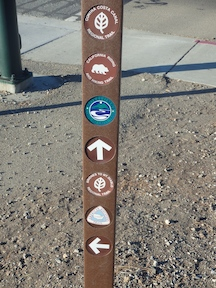 sign post for ADT and others