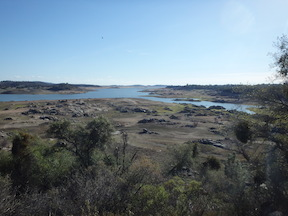 Folsom Reservoir draw-down
