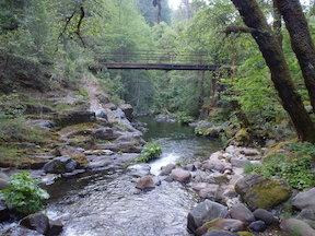 Eldorado Stream bridge on American Discovery Trail